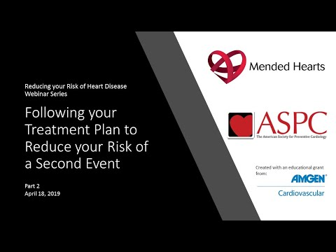 Following your Treatment Plan to Reduce Your Risk of a Second Event
