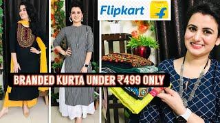 Flipkart Kurta Haul Under ₹499👗Embroidered Kurta👗Cotton Kurti👗Flipkart Haul👗Libas Kurta Under ₹499