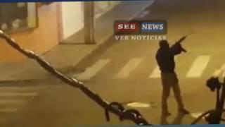 Moradores registram 'cenário de guerra' durante assalto em MG