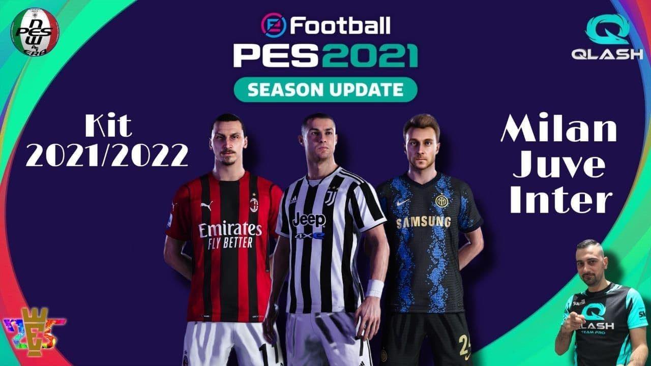 PES 2021   Option File KIT 2021/2022 Inter, Juventus e Milan   PS5/PS4/PC