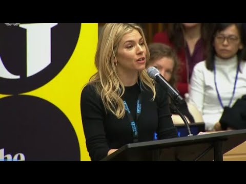 'The future will be equal': Sienna Miller speaks out at MeToo summit