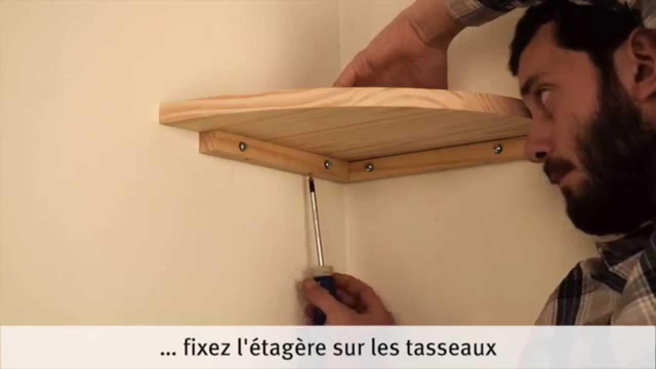 Comment Fixer Des Tasseaux réaliser et poser une étagère d'angle