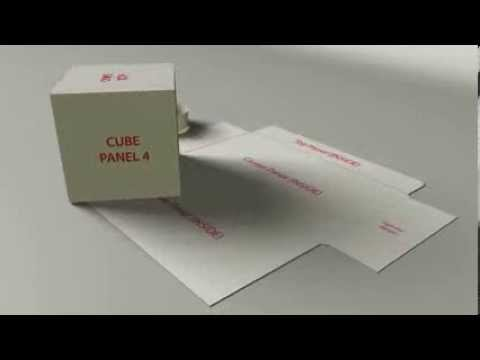 3 Pop Up Direct Mail Cube Blank Design Template Youtube