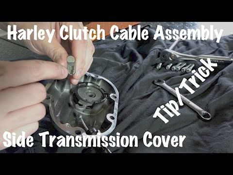 Harley Davidson Clutch Cable Assembly Side Transmission Cover-Remove DIY