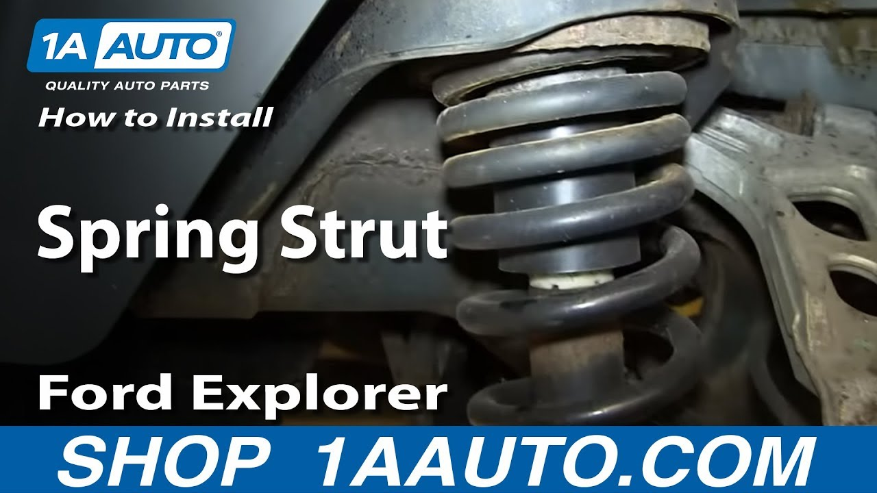 How To Install Replace Rear Shock Spring Strut 200205 Ford Explorer Mercury mountaineer  YouTube