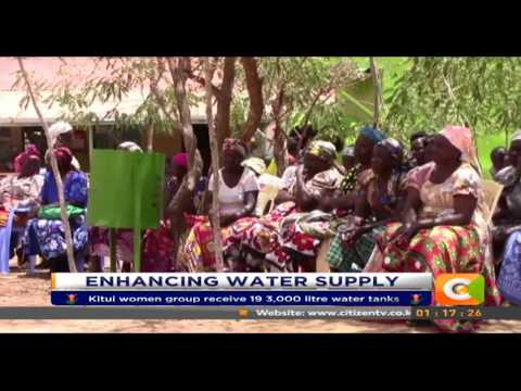 Women group in Kitui receive storage tanks