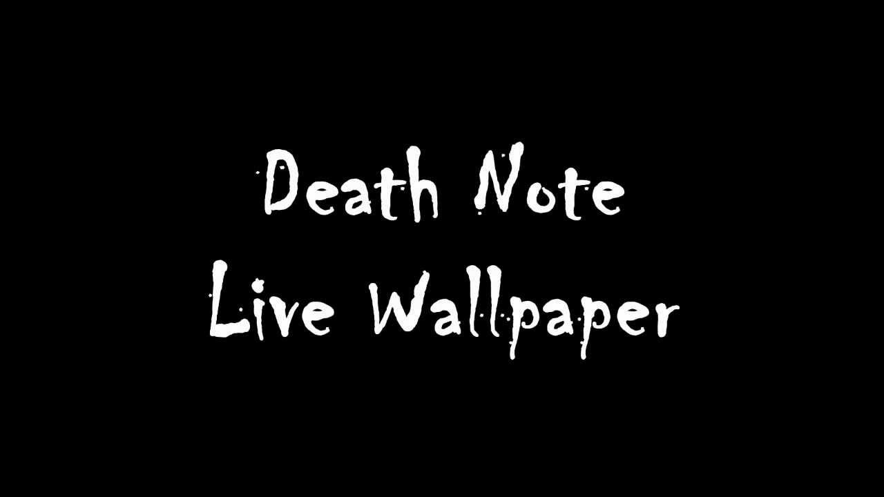 Cars Wallpaper With Names Death Note Android Live Wallpaper Youtube