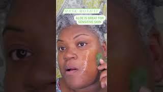 HOW TO AGE GRACEFULLY ALOE VERA FACE MASK GRAY HAIR SKINCARE SHORTS