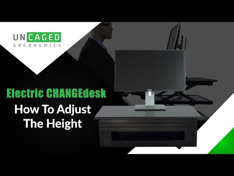 Electric Changedesk Affordable Adjustable Height Power Standing Desk Conversion