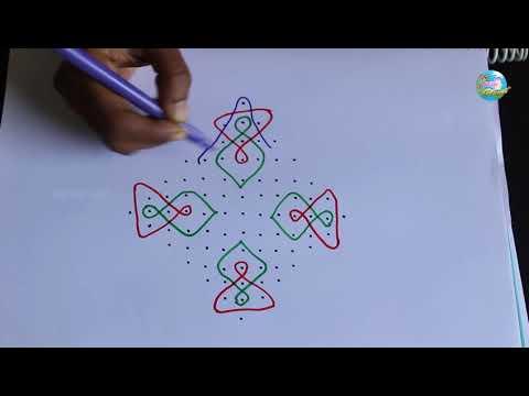 13x1 Dots Muggulu  | Rangoli Designs | Kolam designs By Suchi Planet