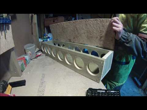 How I made a feeding tray for my homing pigeons