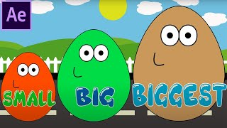 Surprise Eggs POU Learn Sizes from Smallest to Biggest Opening Eggs with Toys 3