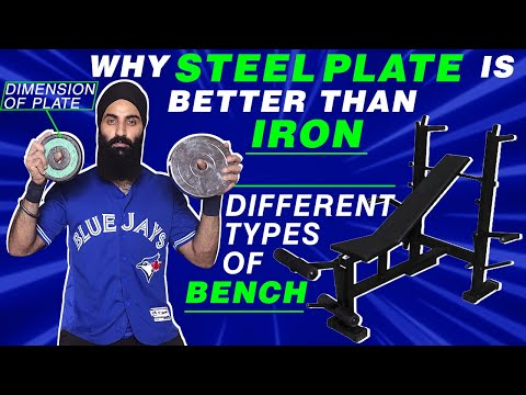 Why STEEL Weight Is Better Than IRON Weight | Different Types Of BENCH Used In BODYBUILDING
