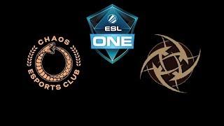 Chaos Esports Club vs NiP ESL One Katowice 2019 Highlights Dota 2