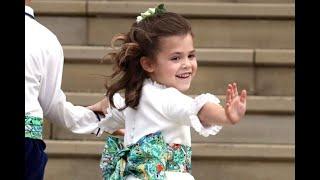 """""""Sei tu la regina?"""". La damigella di Eugenie (figlia del super vip) diventa la star del royal weddin"""