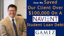 Debt Relief Success Stories | Navient Student Loan Debt Settlement Saving Over $100,000