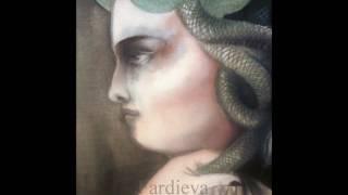 How to draw Medusa Snake Head
