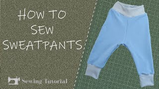 How To Sew Pants for Children   Tutorial   DIY