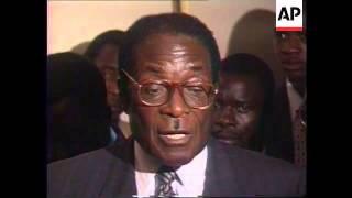 ZIMBABWE: LAURENT KABILA MEETS ROBERT MUGABE