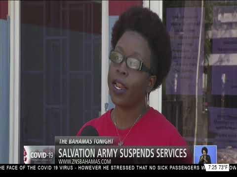 SALVATION ARMY SUSPENDS SERVICES
