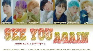 MONSTA X #39SEE YOU AGAIN#39 Color Coded HanRomVOSTFR