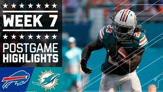 Bills vs. Dolphins | NFL Week 7 Game Highlights