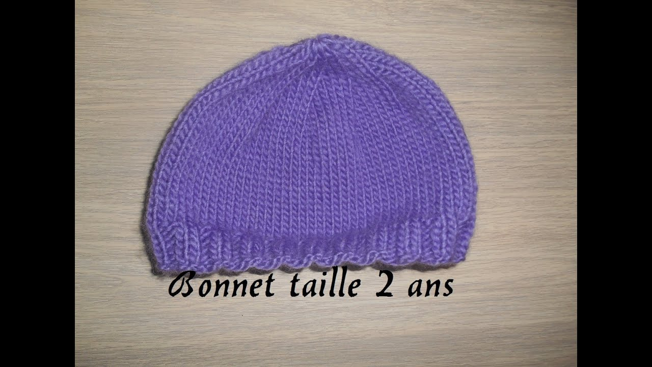 bonnet facile et rapide pour enfant , knitting Easy child cap - YouTube 3691556557f