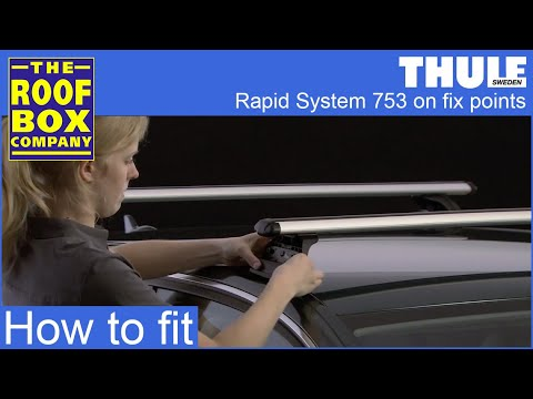 thule rapid system 753 on fix points youtube. Black Bedroom Furniture Sets. Home Design Ideas