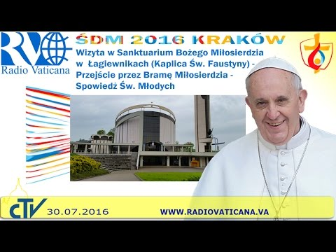 Pope Francis in Poland, Visit to the Shrine of Divine Mercy