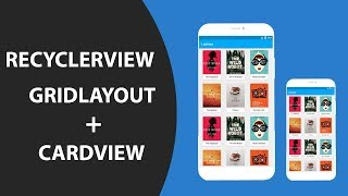 Recyclerview + Cardview with GridLayout | Android studio tutorial