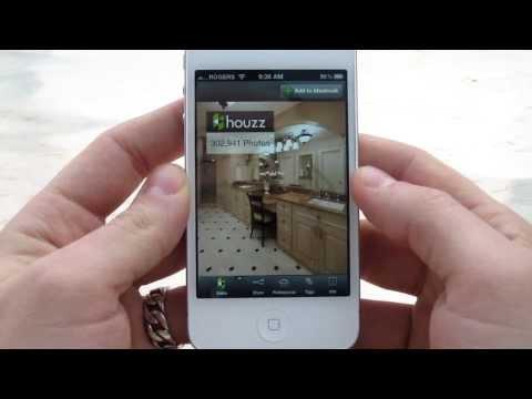 Houzz interior design App review for iPhone