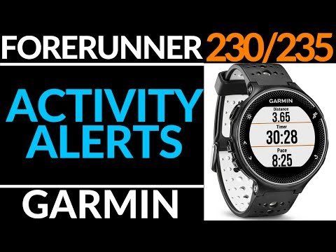 How To Setup Speed, Pace, Distance or HR Alerts  - Garmin Forerunner 230 / 235