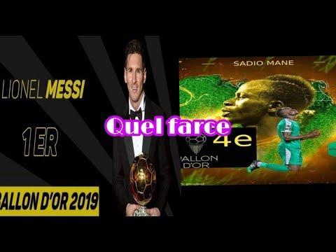 Ballon dor 2019 du pure vol sadio mané au pied du podium A