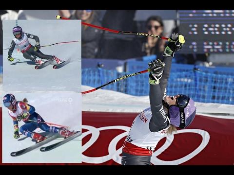 Tessa Worley vs Mikaela Shiffrin (St. Moritz - February 16, 2017)