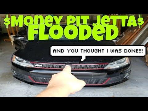 FLOODED Immediately after Rebuilding Salvage Jetta GLI (Money Pit)