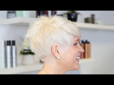 gorgeous feminine short pixie haircut makeover - undercut - extreme haircut short by alisha heide from YouTube · Duration:  7 minutes 51 seconds
