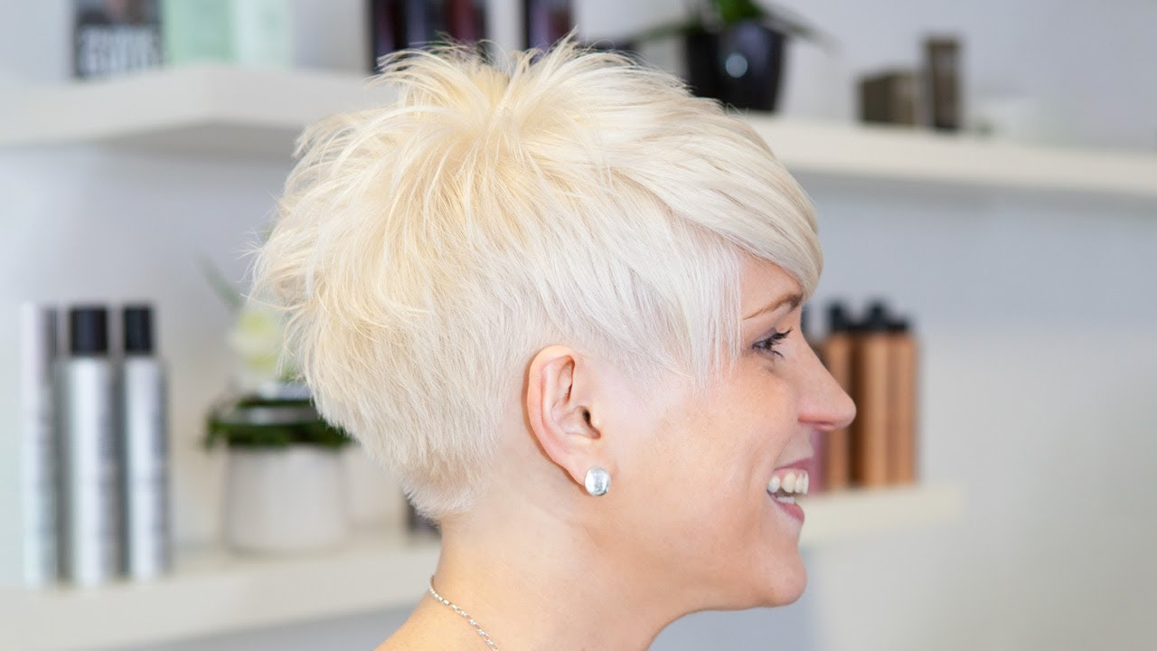 Short Pixie Haircut Makeover Undercut Sidecut Extreme Haircut