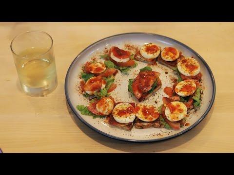 Delicious Toastie Egg And Tomato Snacks And Wine!!