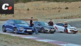 Renault mégane trophy-r, seat león cupra, volkswagen scirocco r | prueba compactos | coches.net