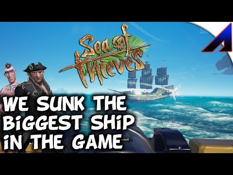 We Sunk the biggest SHIP in the game 2v5!   Sea of Thieves PvP   EP 2