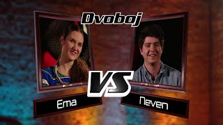"Ema vs. Neven: ""Never Too Much"" - The Voice of Croatia - Season1 - Battle1"