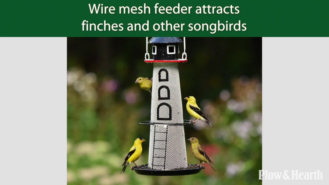 Solar Lighthouse Finch Bird Feeder