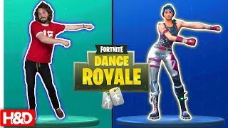 FORTNITE DANCE CHALLENGE!! - (Twin Vs Twin In Real Life)