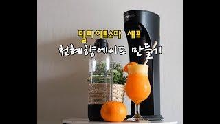 천혜향에이드 만들기 with 딜라이트소다 셰프 탄산수제…