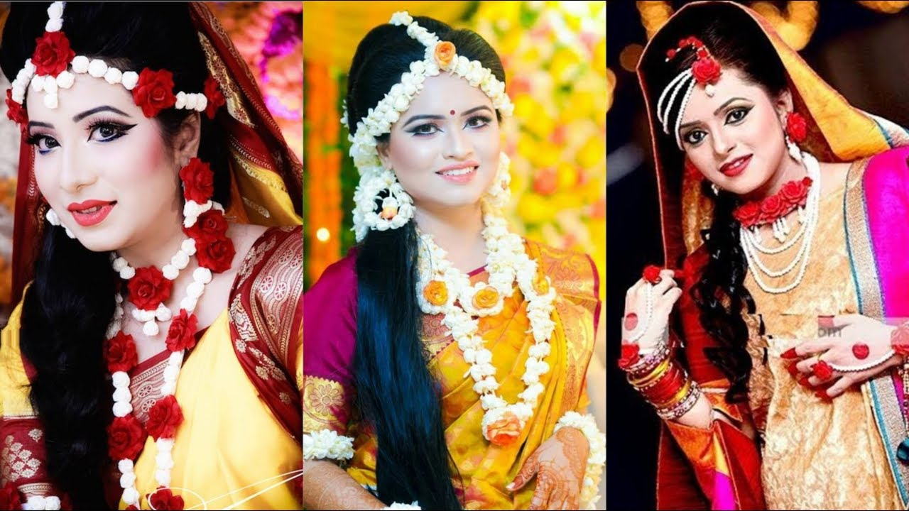 Latest Mayo Flower Jewellery Ideas For Brides Haldi Mehndi