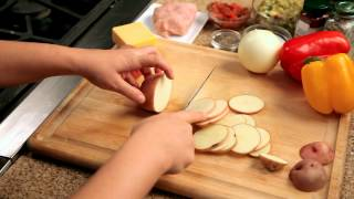 How To Make Nachos - #3 - Slicing Red Potatoes  — Appetites®