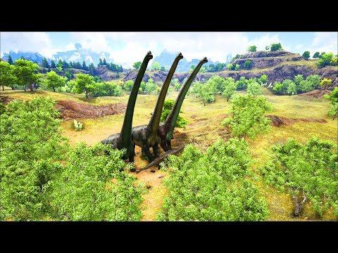 Ark Coop Map Crystal #14: khủng long cổ dài giống hệt trong phim to quá
