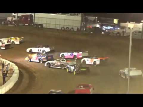Cochran Motor Speedway- Winner 7H Wil Herrington. 22 cars started 12 finished. - dirt track racing video image