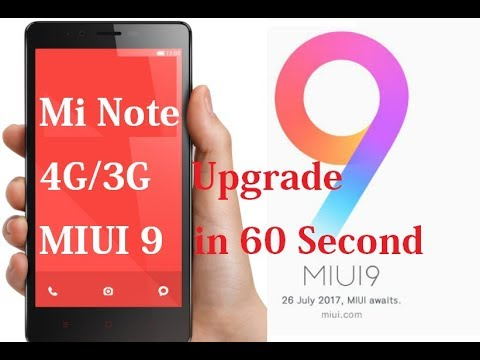 How to Upgrade Red Mi Note 3G/4G MIUI9 (Two Method)
