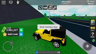 Roblox vehicle tycoon 2019 name code and new car